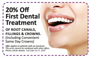 20% Off First Dental Treatment coupon
